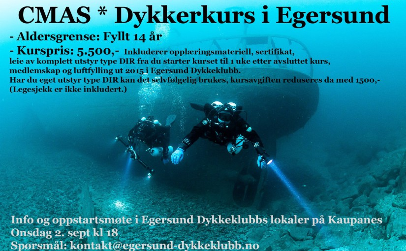 CMAS* Dykkekurs i Egersund